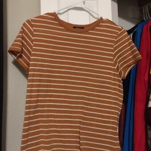 Forever 21 yellow stripped shirt